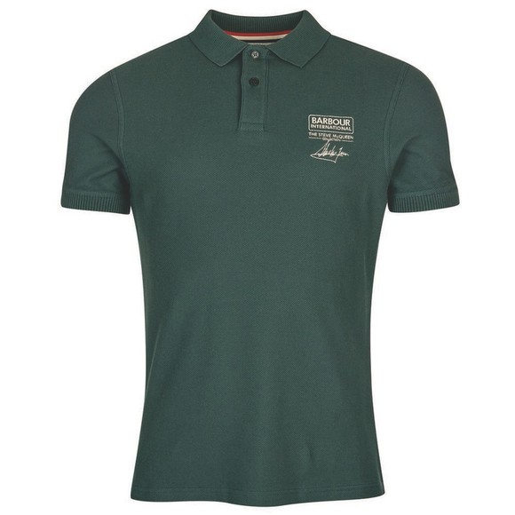 Barbour Int. Steve McQueen Mens Green Chad Polo Shirt