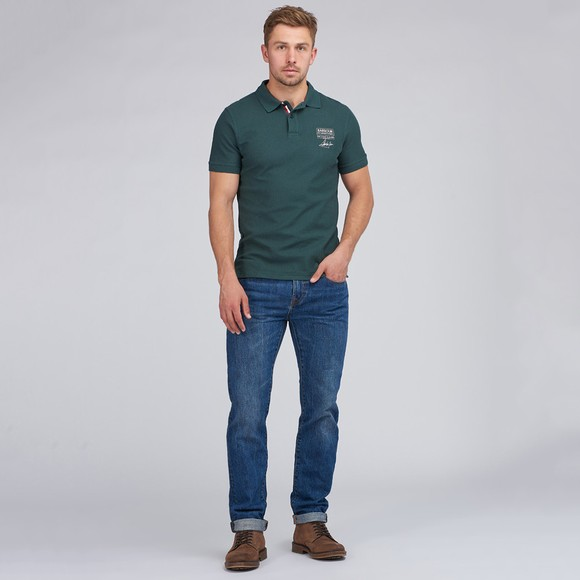 Barbour Int. Steve McQueen Mens Green Chad Polo Shirt main image
