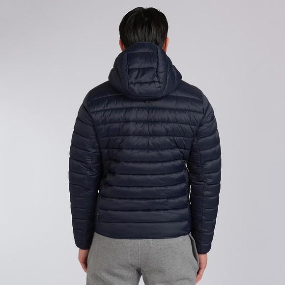 Barbour International Mens Blue Ouston Hooded Quilt Jacket main image