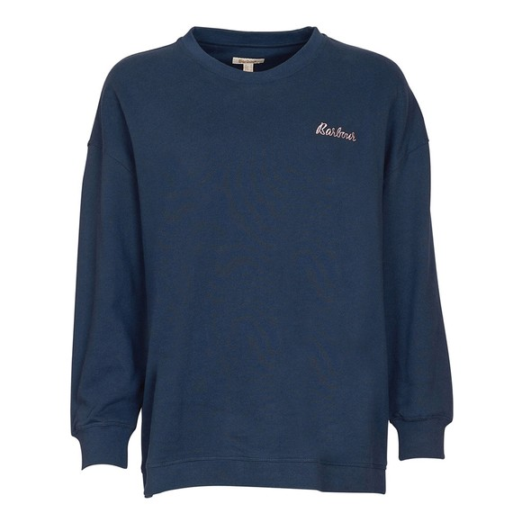 Barbour Lifestyle Womens Blue Relax Lounge Crew Sweatshirt