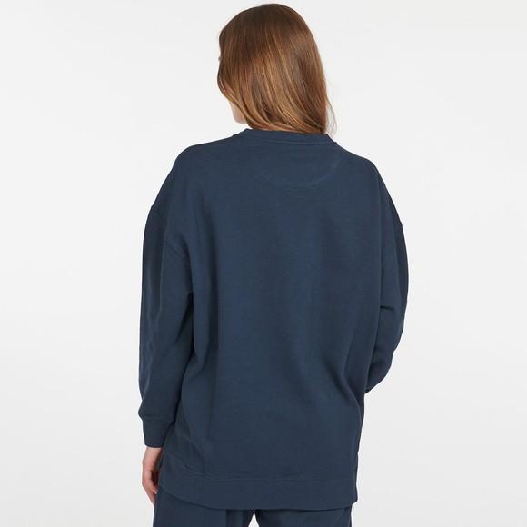 Barbour Lifestyle Womens Blue Relax Lounge Crew Sweatshirt main image