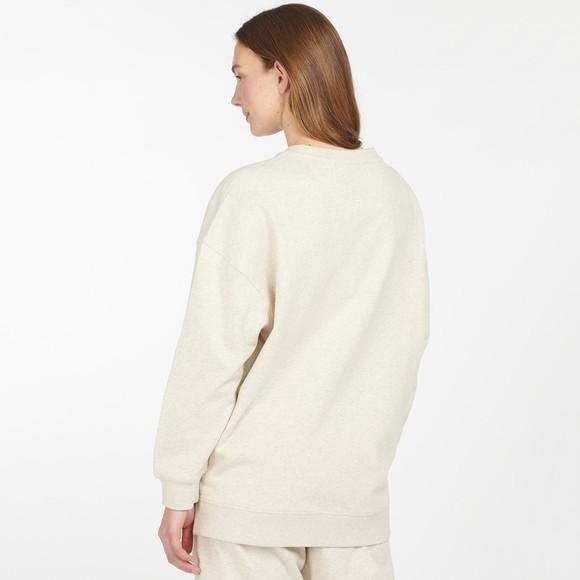 Barbour Lifestyle Womens Grey Relax Lounge Crew Sweatshirt main image