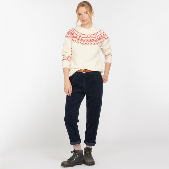 Barbour Lifestyle Womens Off-White Driftwood Fairisle Knit Jumper main image