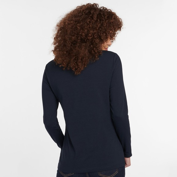Barbour Lifestyle Womens Blue Hedley Long Sleeve T Shirt main image