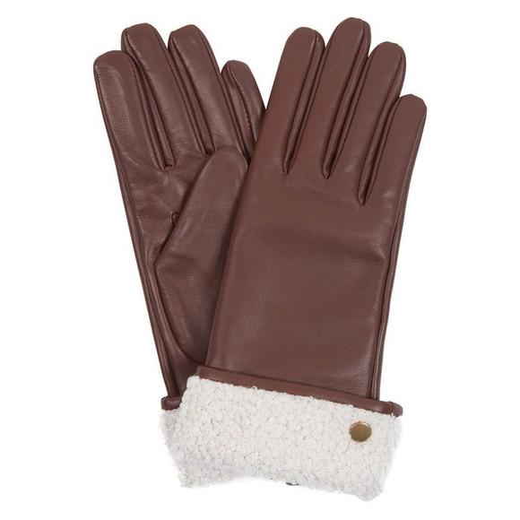 Barbour Lifestyle Womens Brown Lara Leather Gloves main image