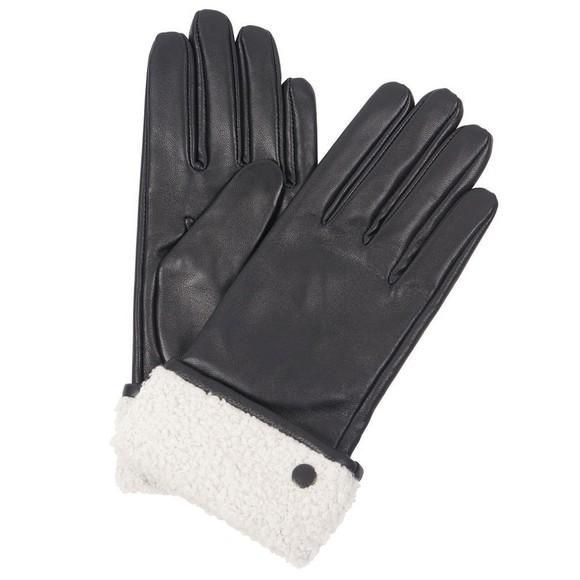 Barbour Lifestyle Womens Black Lara Leather Gloves
