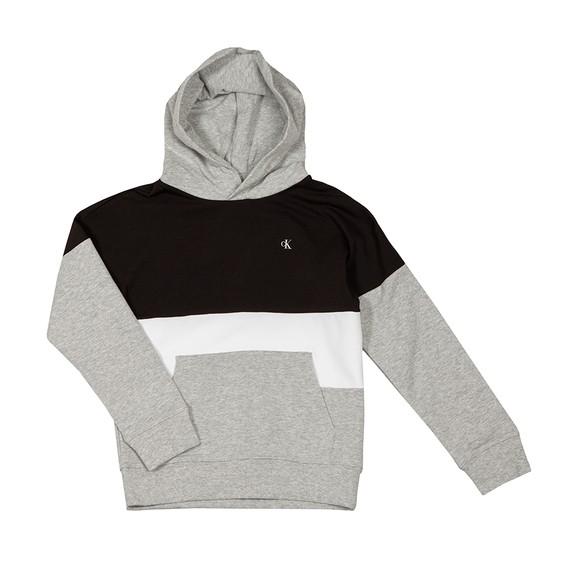 Calvin Klein Jeans Boys Grey Colour Block Logo Hoody main image