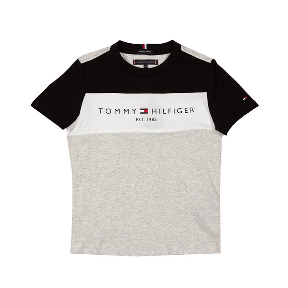Tommy Hilfiger Kids Boys Grey Essential Colourblock T Shirt