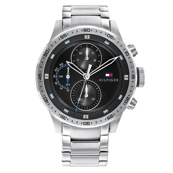 Tommy Hilfiger Mens Silver Trent Watch