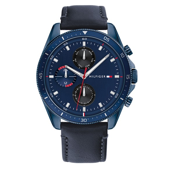 Tommy Hilfiger Mens Blue Parker Watch