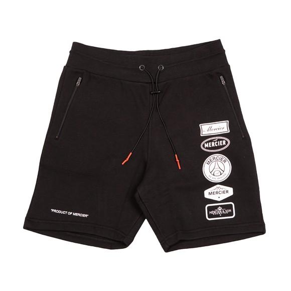 Mercier Mens Black Printed Badge Short