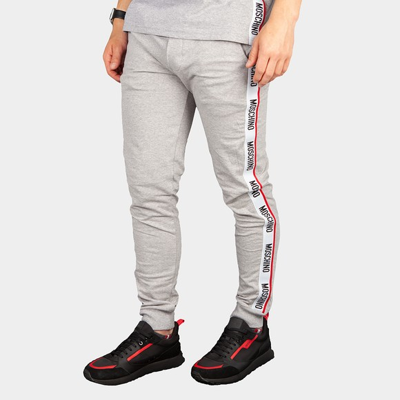 Moschino Mens Grey Tape Leg Jogger