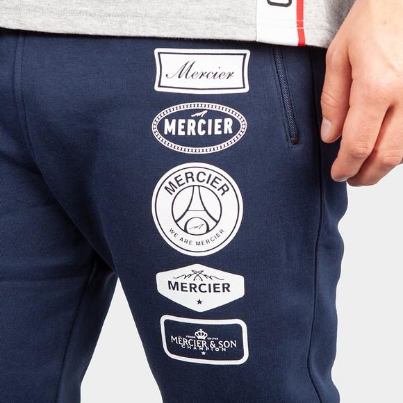 Mercier Mens Blue Printed Badge Jogger main image