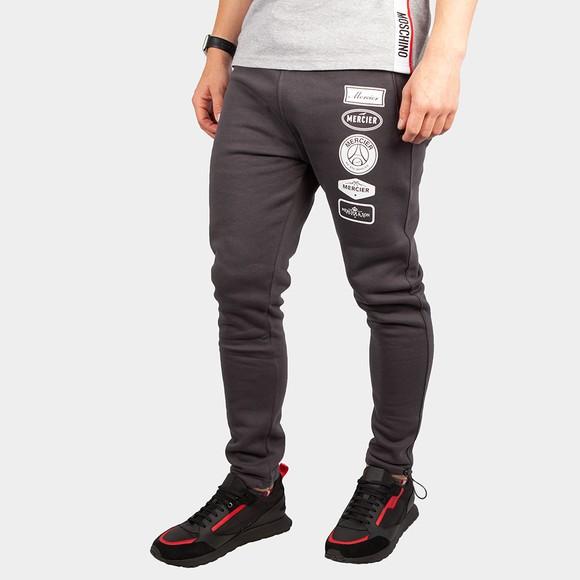 Mercier Mens Grey Printed Badge Jogger