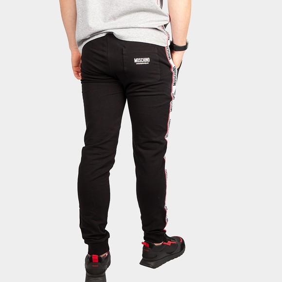 Moschino Mens Black Tape Leg Jogger main image