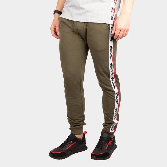 Moschino Mens Green Tape Leg Jogger
