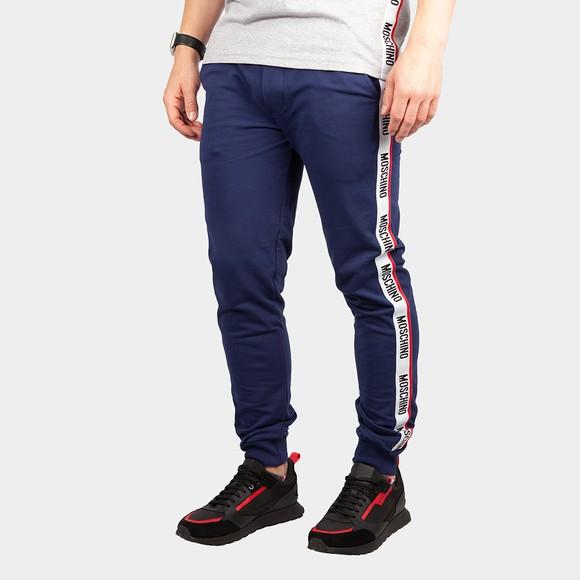 Moschino Mens Blue Tape Leg Jogger