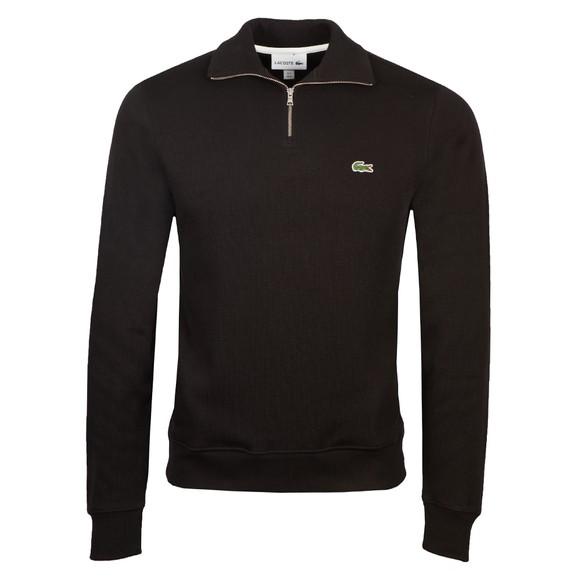 Lacoste Mens Black SH1927 Half Zip Sweatshirt