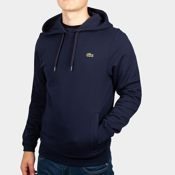 Lacoste Mens Blue Hooded Sweatshirt main image
