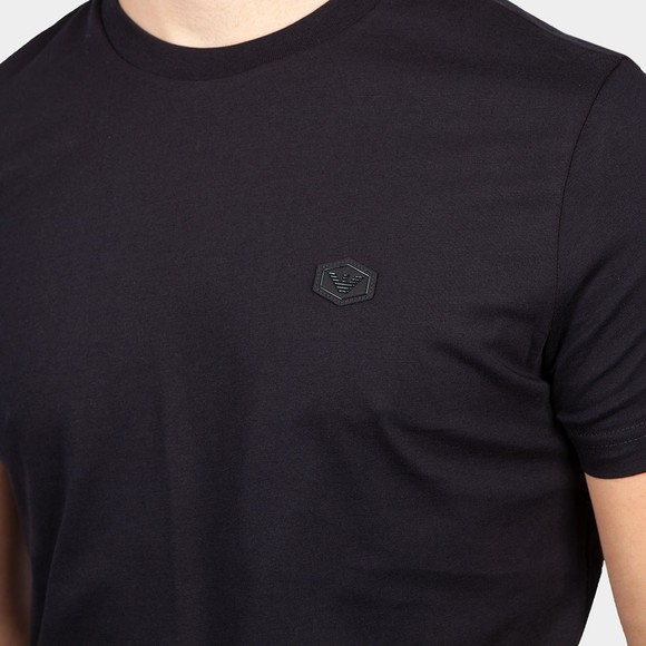 Emporio Armani Mens Blue 8N1TQ6 Small Logo T Shirt main image