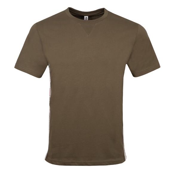 Moschino Mens Green Side Tape T Shirt