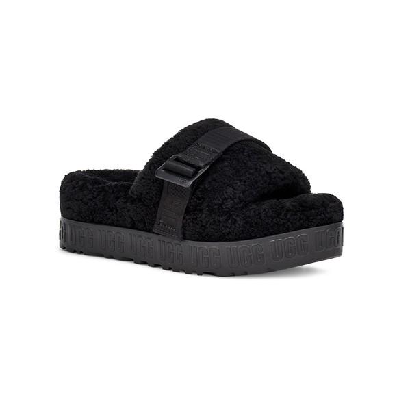 Ugg Womens Black Fluffita Slipper