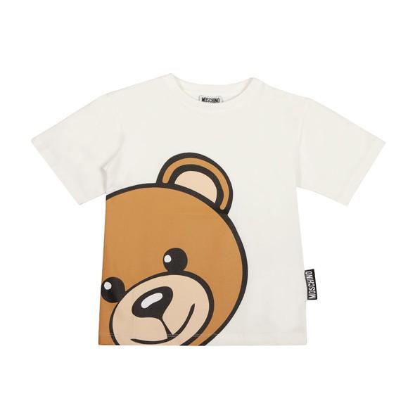 Moschino Boys Off-White Maxi Bear T Shirt