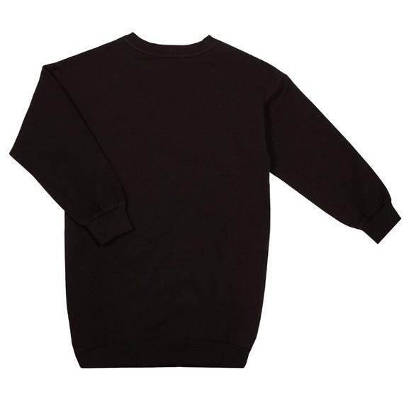 Moschino Girls Black Script Logo Jersey Dress