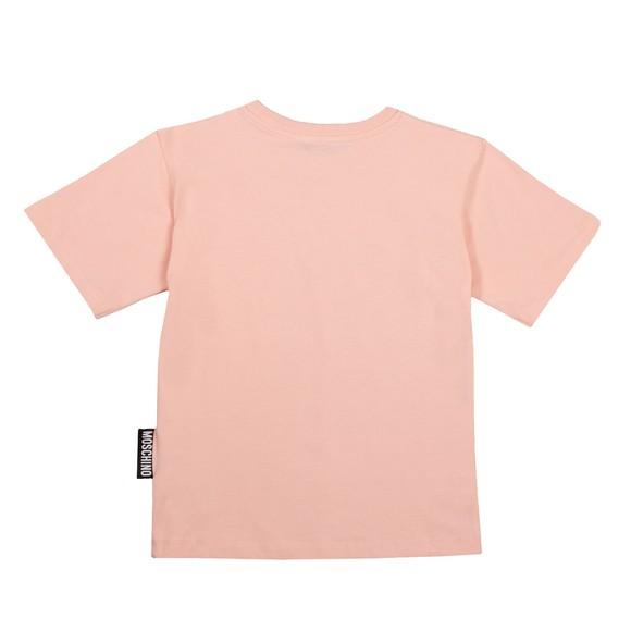 Moschino Girls Pink Maxi Bear T Shirt