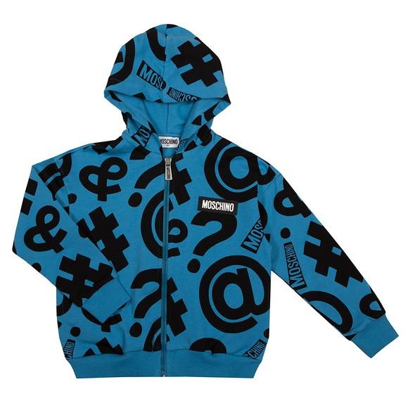 Moschino Boys Blue Alaskan Symbols Hoody