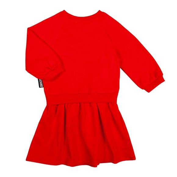 Moschino Girls Red Maxi Bear Sweatshirt Dress