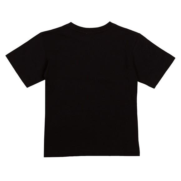 Moschino Girls Black Script Logo T Shirt
