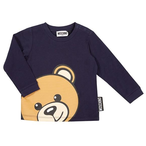 Moschino Boys Blue Maxi Bear T Shirt