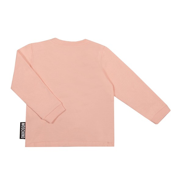 Moschino Girls Pink Maxi Bear T-Shirt