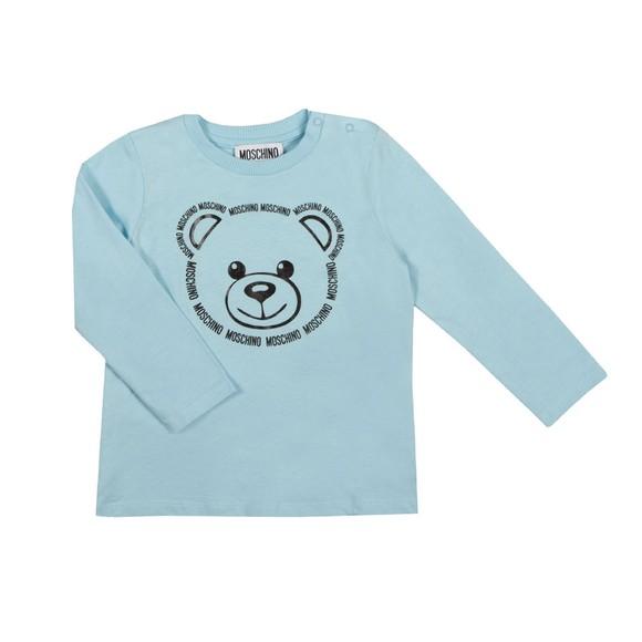 Moschino Boys Blue Large Bear Long Sleeve T Shirt & Jogger Set main image