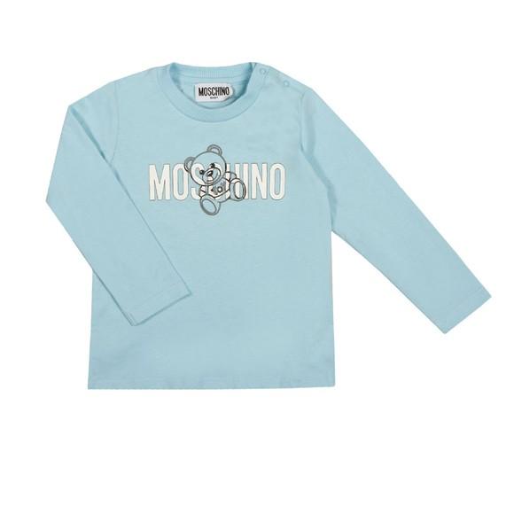 Moschino Boys Blue Script Logo T Shirt main image