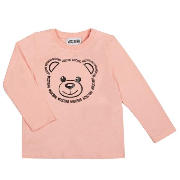 Moschino Girls Pink Large Bear Long Sleeve T Shirt & Legging Set