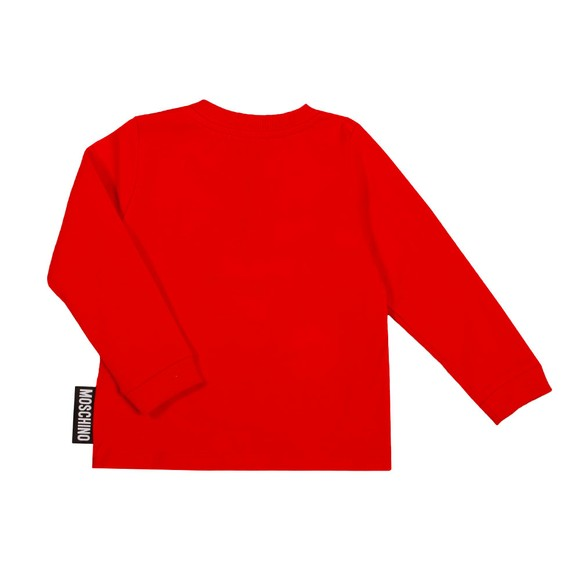Moschino Boys Red Maxi Bear Long Sleeve T Shirt & Jogger Set main image
