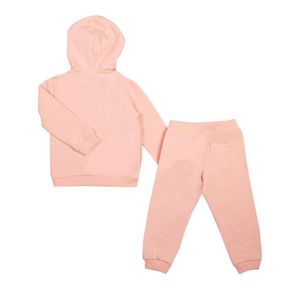 Moschino Girls Pink Full Zip Hooded Tracksuit