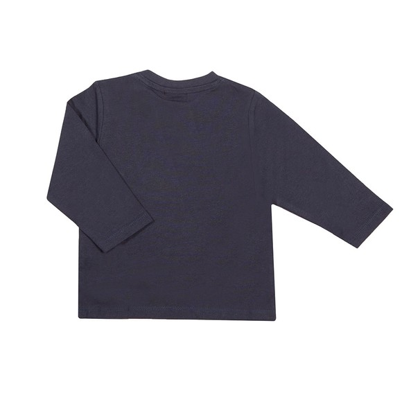 BOSS Baby Boys Blue J05871 Split Logo Long Sleeve T Shirt