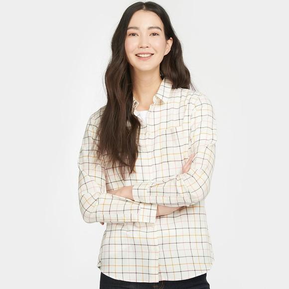 Barbour Lifestyle Womens Off-White Triplebar Shirt