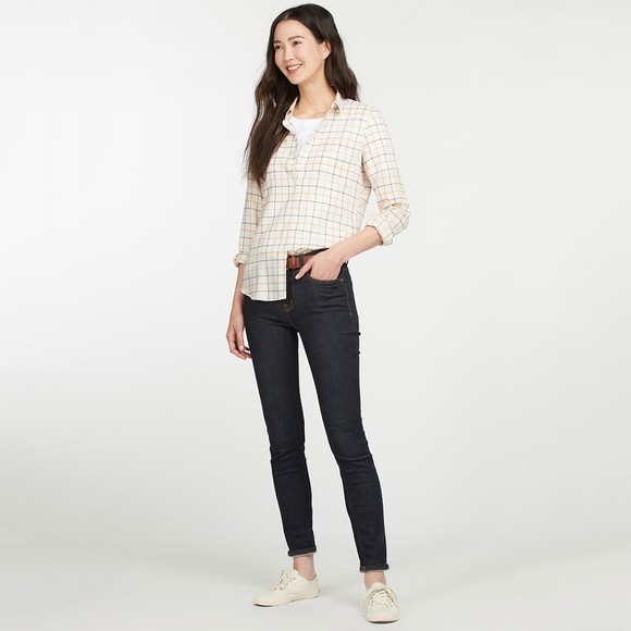 Barbour Lifestyle Womens Off-White Triplebar Shirt main image