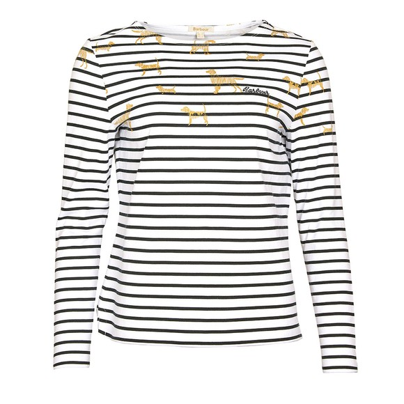Barbour Lifestyle Womens Off-White Hawkins Print Top