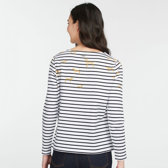 Barbour Lifestyle Womens Off-White Hawkins Print Top main image