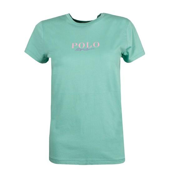 Polo Ralph Lauren Womens Green MNI Polo Logo T Shirt