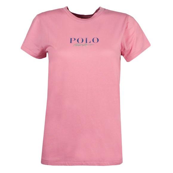 Polo Ralph Lauren Womens Pink MNI Polo Logo T Shirt