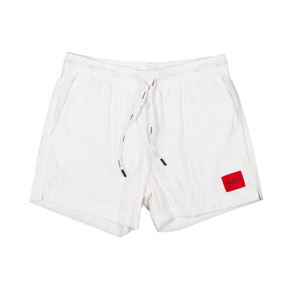 HUGO Mens White Dominica Swim Short