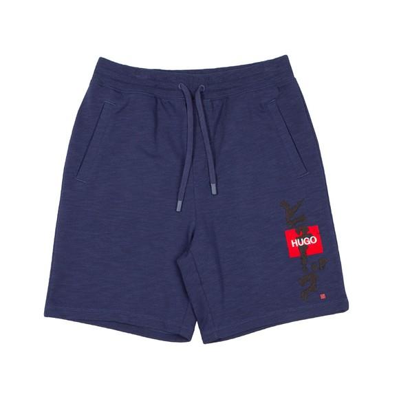 HUGO Mens Blue Dilson Jersey Short