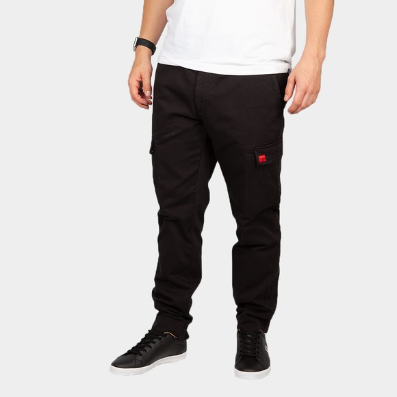 HUGO Mens Black Glian 214 Combat Trouser