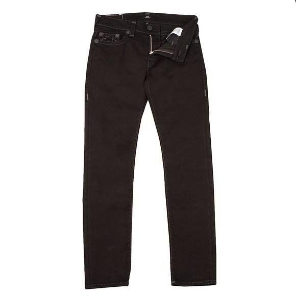 True Religion Mens Black Rocco No Flap Super T Jean